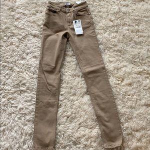 Zara Basic Denim Khaki Jean